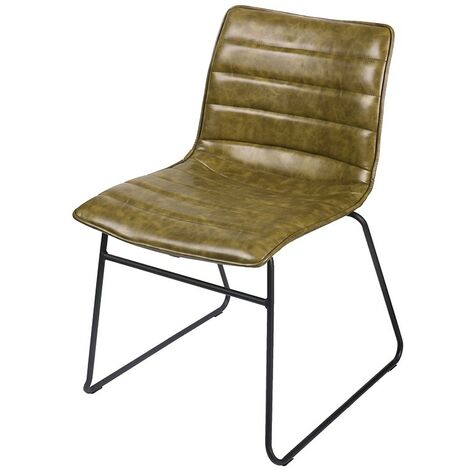 Chaise simili cuir kaki Brooklyn - Kaki