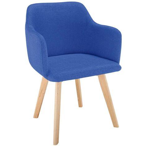 Chaise style scandinave Candy Tissu Bleu - Bleu
