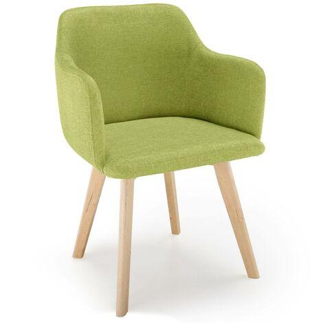Chaise style scandinave Candy Tissu Vert Pistache - Vert
