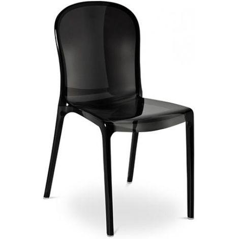 Chaise style Thalya - Inspiration Patrick Jouin Noir
