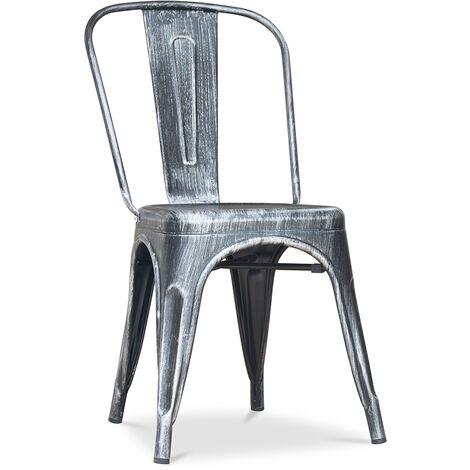 Chaise Style Tolix 5Kgs Nouvelle édition - Métal Bronze métallisé
