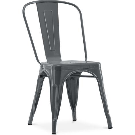 """main image of """"Chaise Style Tolix 5Kgs Nouvelle édition - Métal Bronze métallisé"""""""