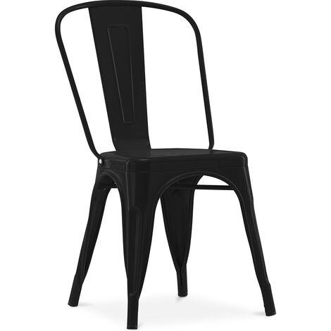 Chaise Style Tolix 5Kgs Nouvelle édition - Métal Noir