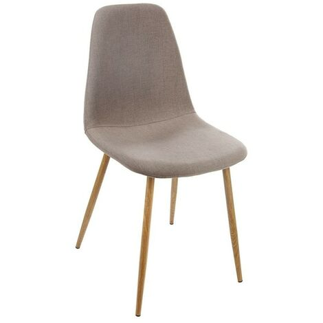 Chaise Taho taupe assise rembourrée Atmosphera - Taupe