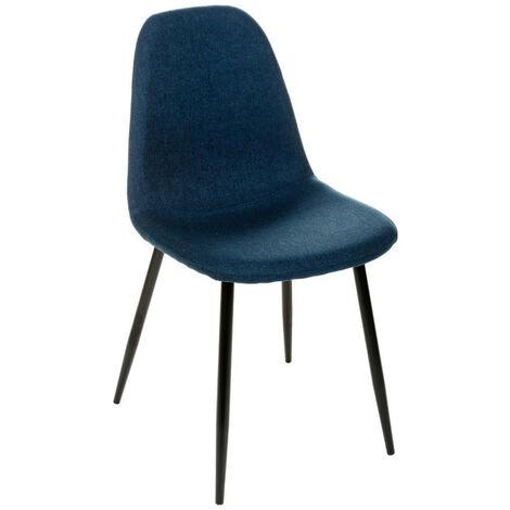Chaise tissu et métal Tyka bleu Atmosphera - Bleu