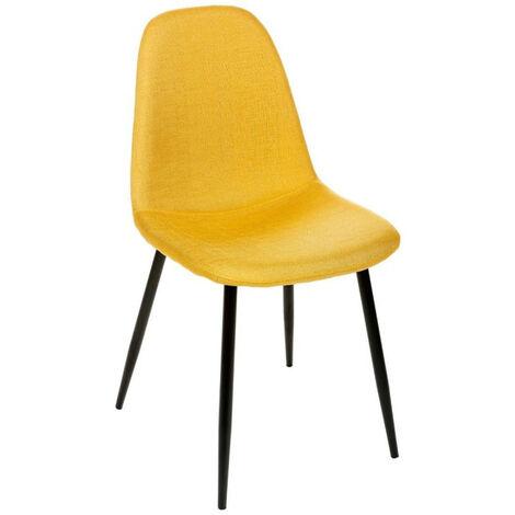 Chaise tissu et métal Tyka jaune Atmosphera - Jaune