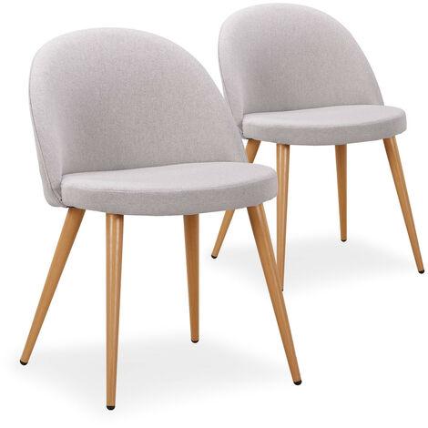 """main image of """"Lot de 2 chaises scandinaves Maury Gris Foncé - Gris foncé"""""""