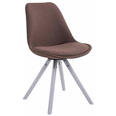 Chaise Toulouse tissu pieds ronds