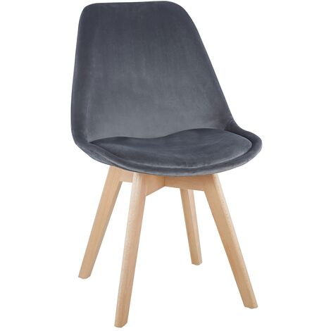 """main image of """"CHAISE TOWER VELOURS GRIS"""""""