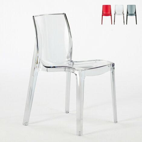 Chaise transparent Salle à Manger bar FEMME FATALE Grand Soleil Design en polycarbonate