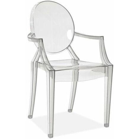 Chaise transparente - Luis - 54 x 42 x 92 cm - Livraison gratuite
