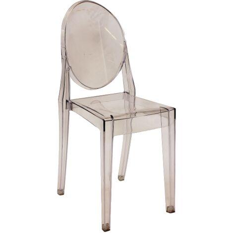 Chaise transparente - Martin - 51 x 38 x 90 cm - Polycarbonate - Livraison gratuite