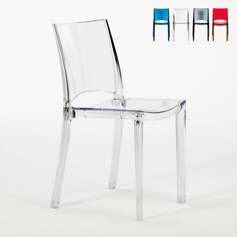 Chaise transparente salle manger bar empilable b side grand soleil transparent s6315tr - Chaise salle a manger transparente ...