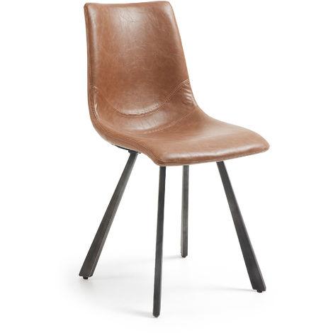Chaise Trap marron oxyde