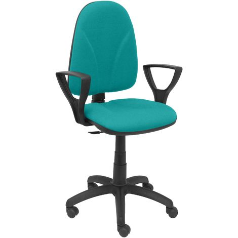 Chaise verte Algarra à bras fixes