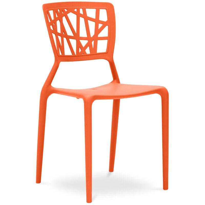 Chaise Viena Orange clair