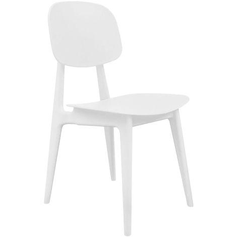 Chaise Vintage - Blanc - Beige