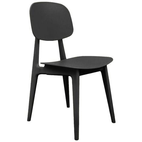 Chaise Vintage - Noir - Noir
