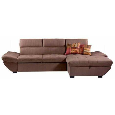 Chaiselongue marron cama y arcon 280 cm(ancho) 88 cm(altura) 154 cm(fondo).. Tipo Estructura Derecha