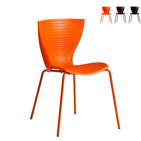 Chaises au design moderne Slide GLORIA pour bar cuisine restaurant et jardin
