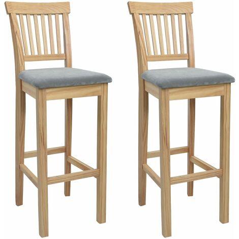Chaises de bar 2 pcs Bois