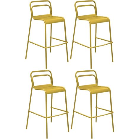 Chaises de bar en aluminium Eos (Lot de 4) Tournesol - Tournesol