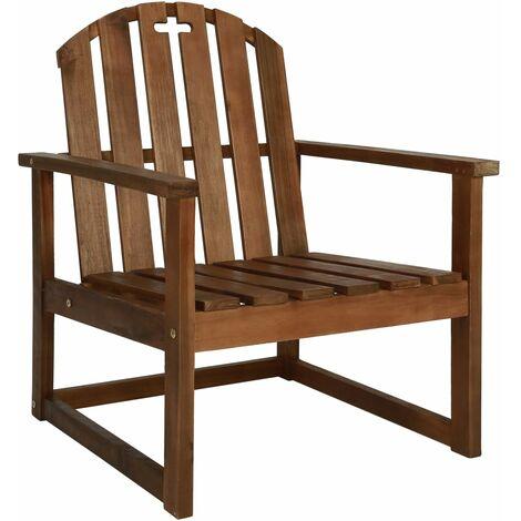 Chaises de jardin 2 pcs Bois d\'acacia solide - 44033