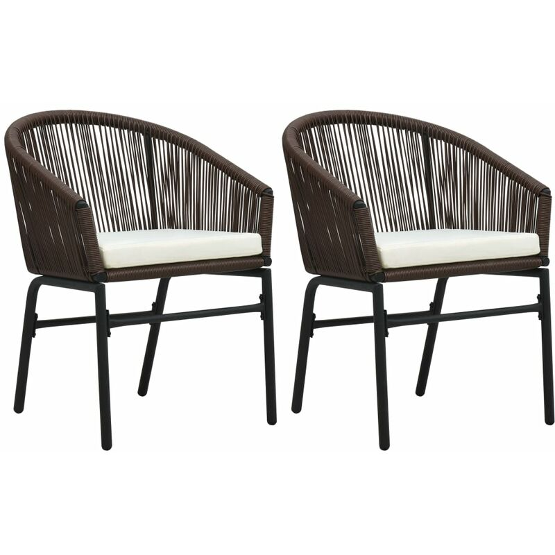 Chaises de jardin 2 pcs Marron Rotin PVC9314-A