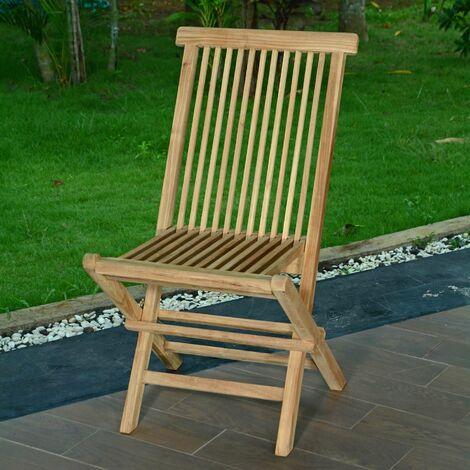 Chaises de jardin en teck pliantes (lot de 2) KG 001 2