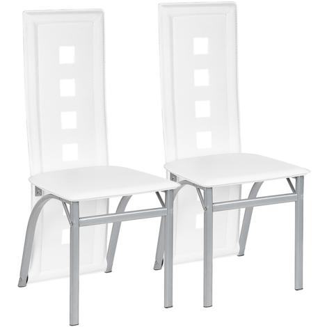 Chaises de salle à manger 2 chaises de salle à manger 2 chaises SET cuisine salle à manger chaise Blanc
