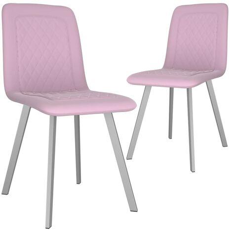 Chaises de salle à manger 2 pcs Rose Velours