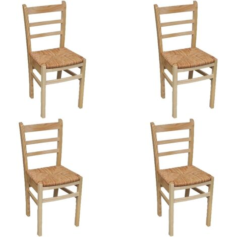 Chaises de salle à manger 4 pcs Bois de pin
