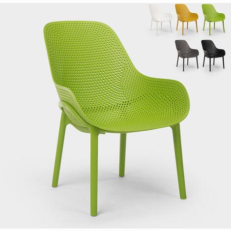 Chaises design Majestic pour cuisine et bar en polypropylène