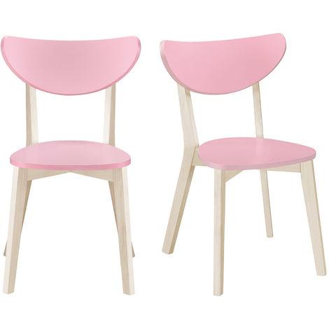 Chaises design pieds bois (lot de 2) LEENA