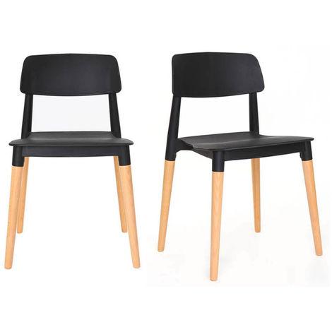 Chaises design scandinave (lot de 2) GILDA