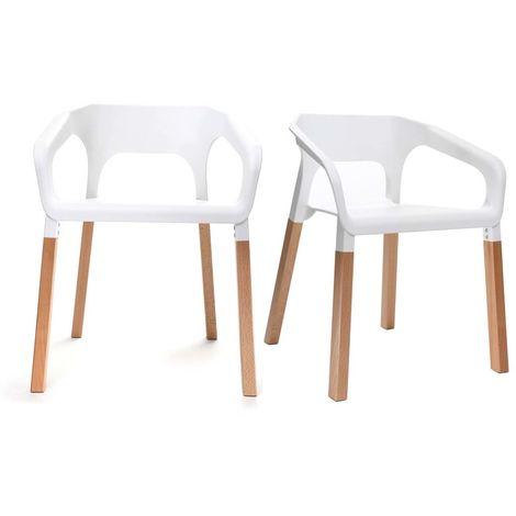Chaises design scandinave (lot de 2) HELIA