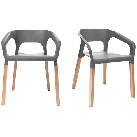Chaises design scandinave (lot de 2) HELIA