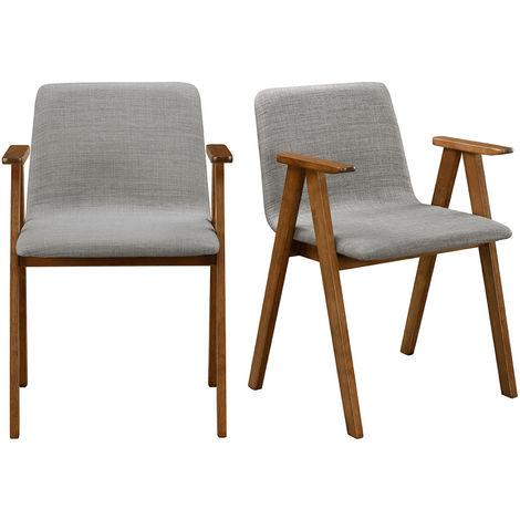 Chaises design vintage tissu (lot de 2) DANA
