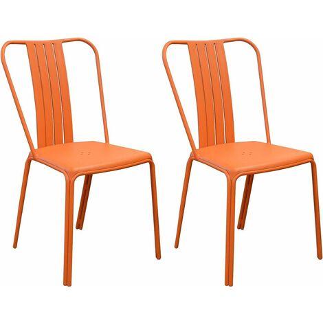 Chaises en aluminium Azuro (Lot de 2) Paprika - Paprika