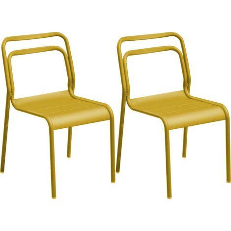 Chaises en aluminium Eos (Lot de 6) Tournesol - Tournesol
