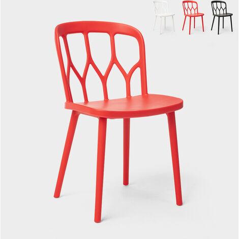 Chaises en polypropylène au design moderne pour bar, cuisine et jardin Flow