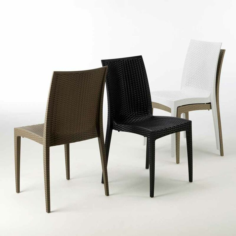 Bar Stock Jardin Poly rotin 22pz Chaises empilable Bistrot SUGqMLzVp