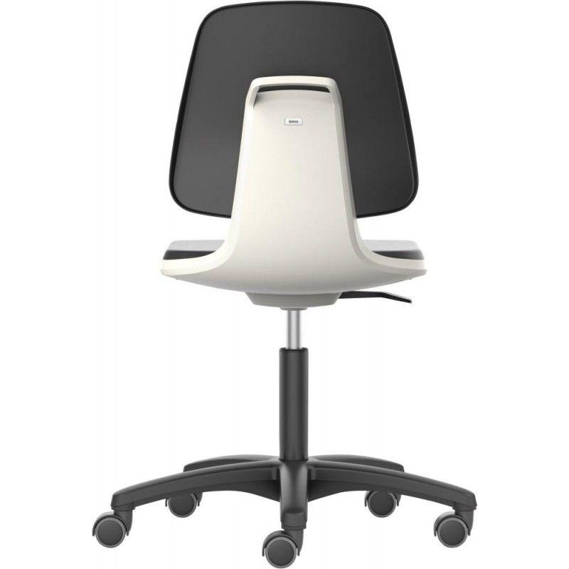 Bimos - Chaises Labsit 2 Blanc Plastique-cuir,avec roues