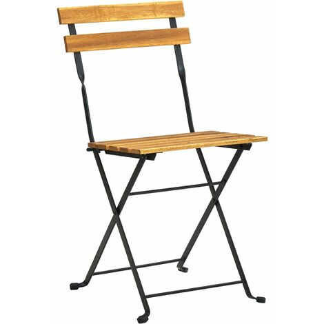 chaise acier bois pliable jardin
