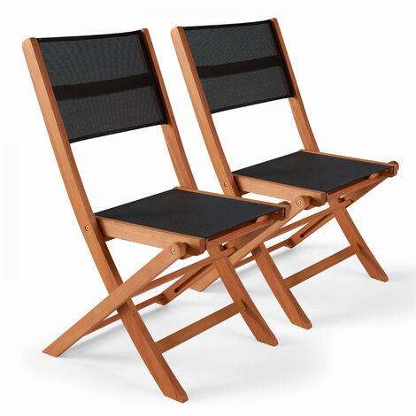 Chaises pliantes de jardin en bois
