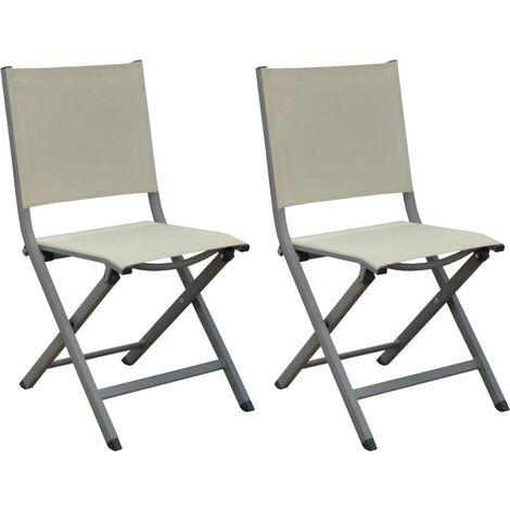 Chaises pliantes en aluminium Thema (Lot de 6) Taupe, Beige - Taupe, Beige