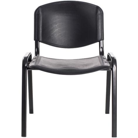 Conférence Empilables Plastique Noir 6 Salle En – Bureau Chaises nO80Pkw