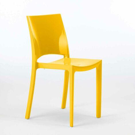 Chaises pour cuisine salle à manger bar brillante Grand Soleil SUNSHINE Design Moderne en Polypropylène