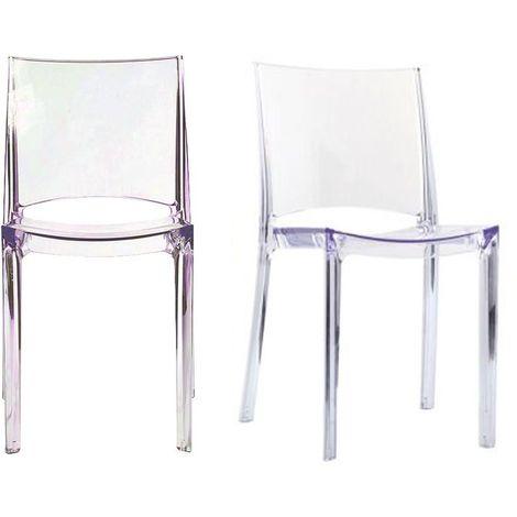 Designlot 2Kalya De Empilables Chaises Transparentes BdxroeWC