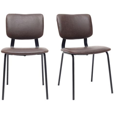 chaises vintage avec pieds métal (lot de 2) LAB